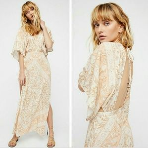New spell free people lolita gown ivory maxi dress